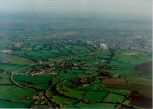 Iron Acton from the air
