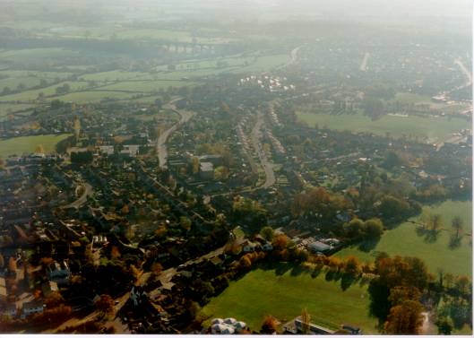 Winterbourne from the air