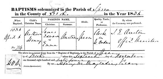 copy of his birth certificate