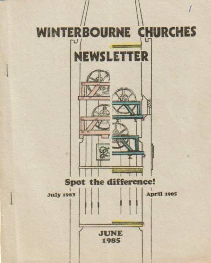 laboriously hand-coloured church magazine front cover
