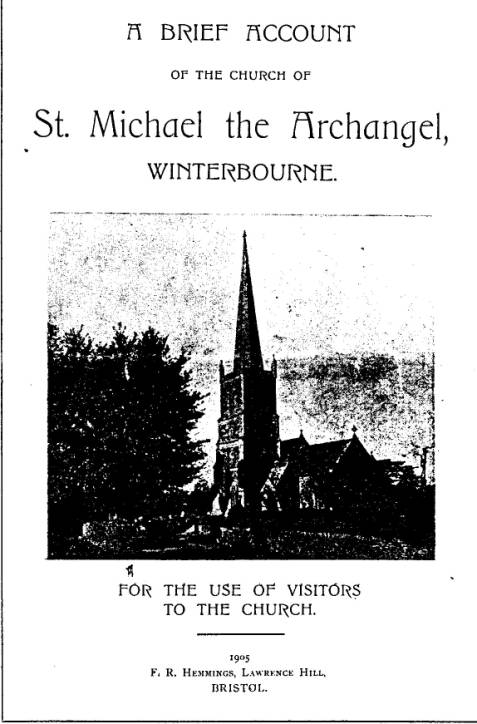 Front cover with view of church