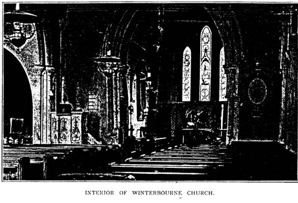 inside view of church, before 1905