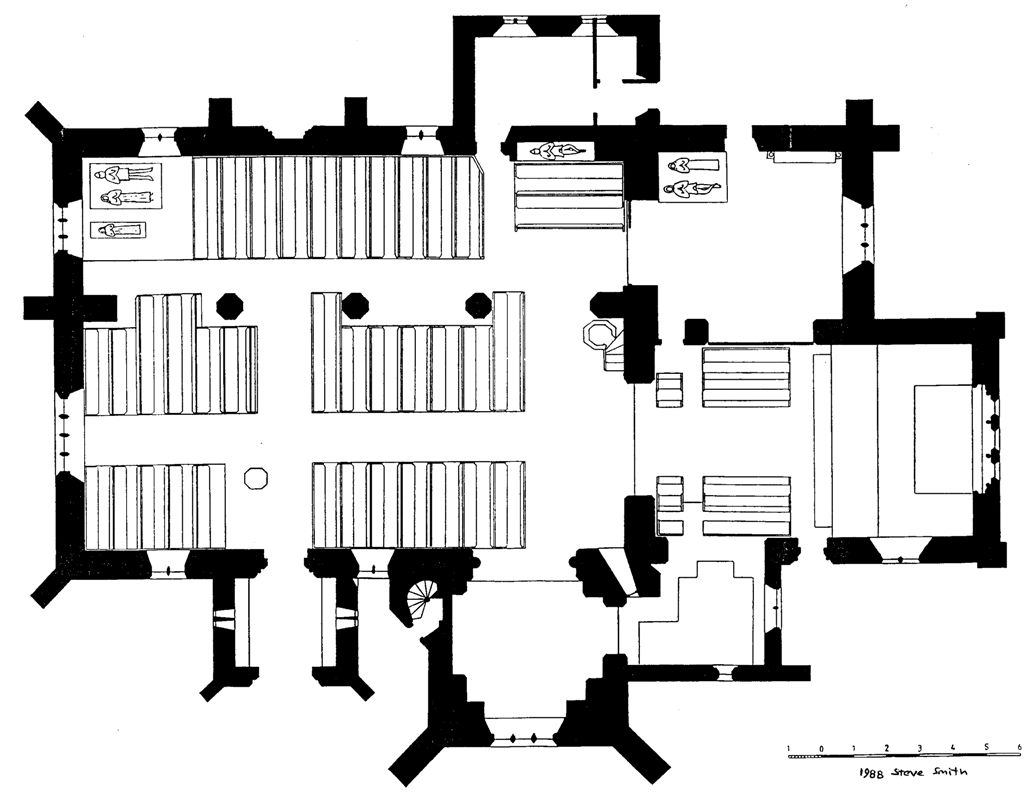 Plan of church.