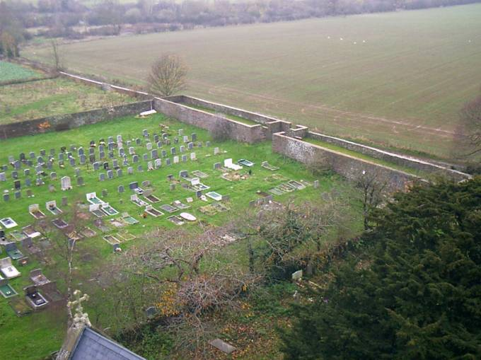 new churchyard showing Monk's Walk, taken from the Tower