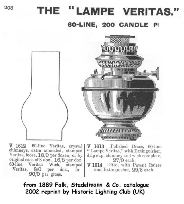 illustration of the new-fangled 'Veritas' oil lamp