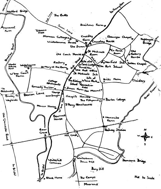 Sketchmap of Winterbourne