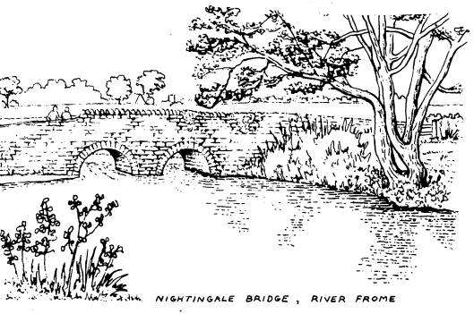 Nightingale Bridge on the River frome