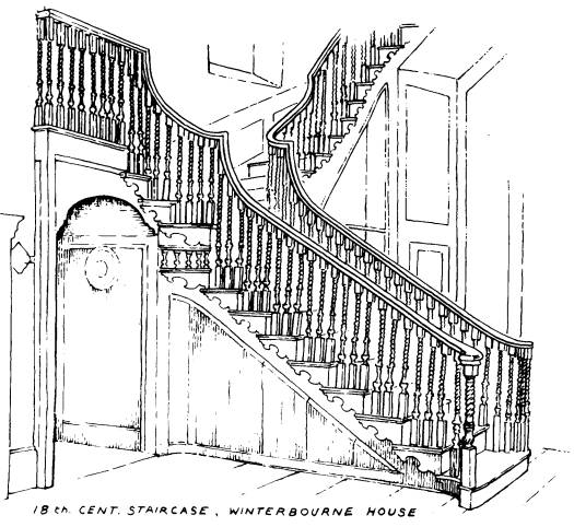 Winterbourne House staircase